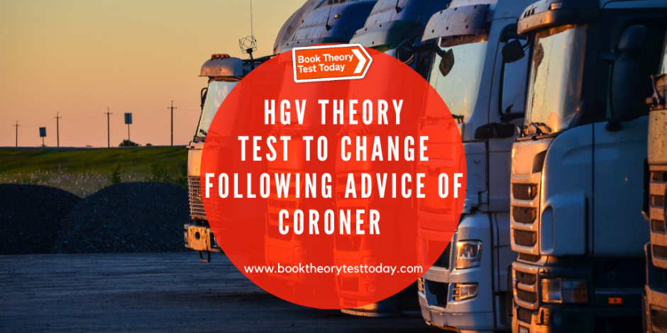 An image showing HGVs in relation to the HGV theory test.