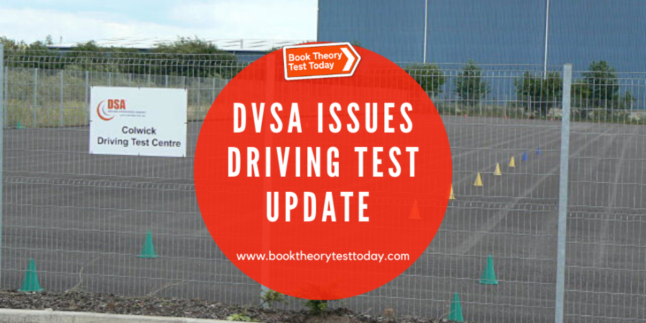 Colwick driving test centre UK and DVSA driving test update.