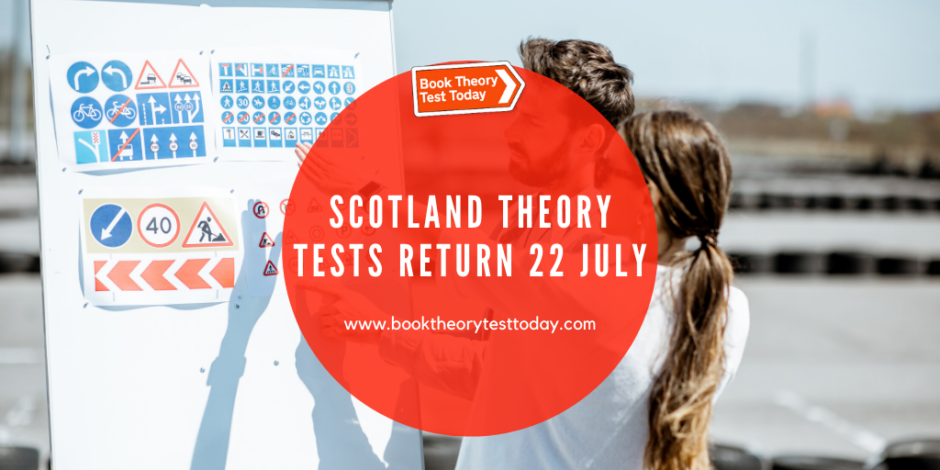 Scotland Theory Tests with a learner driver revising.