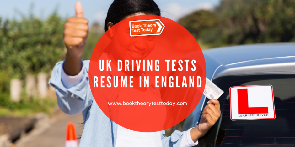 Learner driver happy that UK driving tests have resumed.