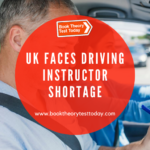 A UK driving instructor with learner driver.
