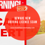 Driving Licence Scam Warning.