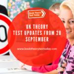 UK theory test updates 2020.