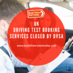 DVSA halts driving test appointments.