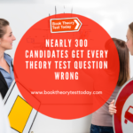 Driving students tackling a theory test question.