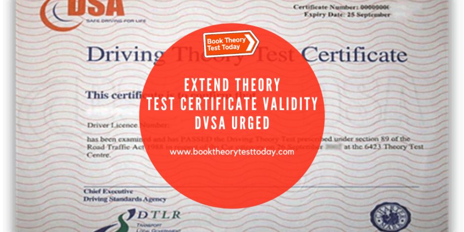 UK Theory Test Certificate Validity Expiration.