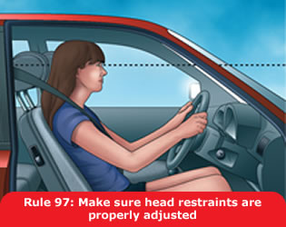 Make sure head restraints are properly adjusted