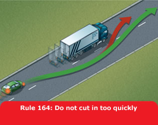Do not cut in too quickly