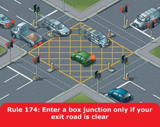 Enter a box junction only if your exit road is clear