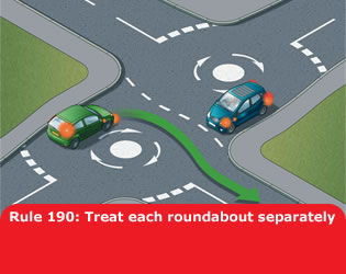 Treat each roundabout separately